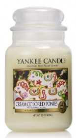 Aromatická svíčka, Yankee Candle Cream Colored Ponies, hoření až 150 hod