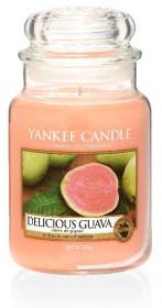 Aromatická svíčka, Yankee Candle Delicious Guava, hoření až 150 hod