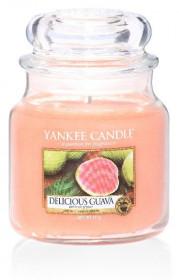 Aromatická svíčka, Yankee Candle Delicious Guava, hoření až 75 hod