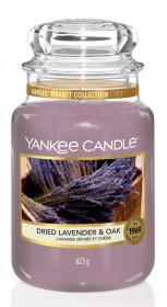 Aromatická svíčka, Yankee Candle Dried Lavender & Oak, hoření až 150 hod