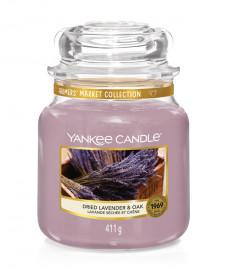 Aromatická svíčka, Yankee Candle Dried Lavender & Oak, hoření až 75 hod