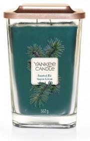 Aromatická svíčka, Yankee Candle Elevation Frosted Fir Sapin Givré, hoření až 80 hod