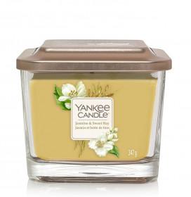 Aromatická svíčka, Yankee Candle Elevation Jasmine & Sweet Hay, hoření až 38 hod