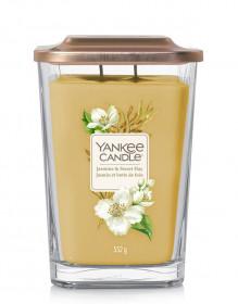 Aromatická svíčka, Yankee Candle Elevation Jasmine & Sweet Hay, hoření až 80 hod