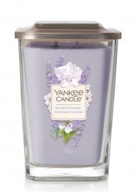 Aromatická svíčka, Yankee Candle Elevation Sea Salt & Lavender, hoření až 80 hod