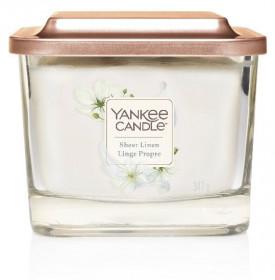 Aromatická svíčka, Yankee Candle Elevation Sheer Linen, hoření až 38 hod