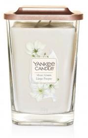 Aromatická svíčka, Yankee Candle Elevation Sheer Linen, hoření až 80 hod