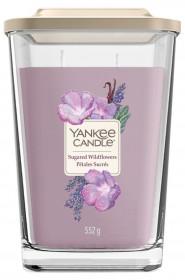 Aromatická svíčka, Yankee Candle Elevation Sugared Wildflowers, hoření až 80 hod