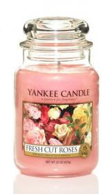 Aromatická svíčka, Yankee Candle Fresh Cut Roses, hoření až 150 hod