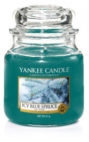 Aromatická svíčka, Yankee Candle Icy Blue Spruce, hoření až 75 hod