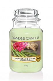 Aromatická svíčka, Yankee Candle Lemongrass & Ginger, hoření až 150 hod