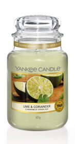 Aromatická svíčka, Yankee Candle Lime & Coriander, hoření až 150 hod