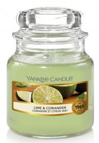 Aromatická svíčka, Yankee Candle Lime & Coriander, hoření až 30 hod