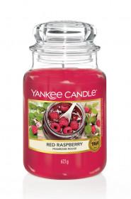 Aromatická svíčka, Yankee Candle Red Raspberry, hoření až 150 hod
