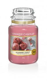 Aromatická svíčka, Yankee Candle Roseberry Sorbet, hoření až 150 hod