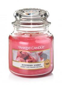 Aromatická svíčka, Yankee Candle Roseberry Sorbet, hoření až 30 hod