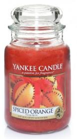 Aromatická svíčka, Yankee Candle Spiced Orange, hoření až 150 hod