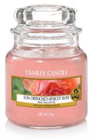 Aromatická svíčka, Yankee Candle Sun-Drenched Apricot Rose, hoření až 30 hod