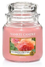 Aromatická svíčka, Yankee Candle Sun-Drenched Apricot Rose, hoření až 75 hod
