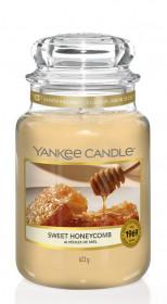 Aromatická svíčka, Yankee Candle Sweet Honeycomb, hoření až 150 hod