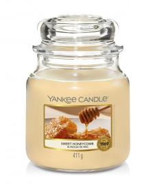 Aromatická svíčka, Yankee Candle Sweet Honeycomb, hoření až 75 hod