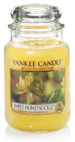 Aromatická svíčka, Yankee Candle Sweet Honeysuckle, hoření až 150 hod