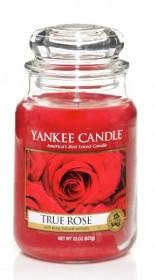 Aromatická svíčka, Yankee Candle True Rose, hoření až 150 hod