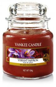 Aromatická svíčka, Yankee Candle Vibrant Saffron, hoření až 30 hod