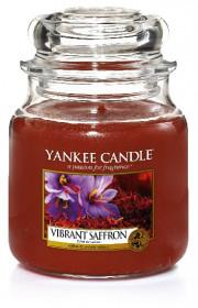 Aromatická svíčka, Yankee Candle Vibrant Saffron, hoření až 75 hod