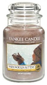 Aromatická svíčka, Yankee Candle Warm Woolen Mittens, hoření až 150 hod