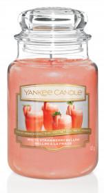 Aromatická svíčka, Yankee Candle White Strawberry Bellini, hoření až 150 hod