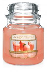 Aromatická svíčka, Yankee Candle White Strawberry Bellini, hoření až 75 hod