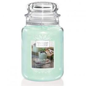 Aromatická svíčka, Yankee Candle Winter Alpine Mint, hoření až 150 hod