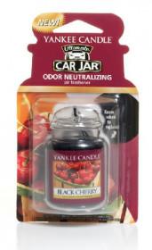 Aromatická visačka do auta, Yankee Candle Black Cherry, gelová, provonění až 4 týdny