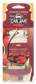 Aromatická visačka do auta, Yankee Candle Black Cherry, papírová, provonění až 4 týdny