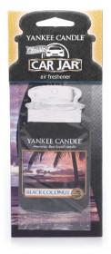Aromatická visačka do auta, Yankee Candle Black Coconut, papírová, provonění až 4 týdny