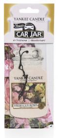 Aromatická visačka do auta, Yankee Candle Fresh Cut Roses, papírová, provonění až 4 týdny