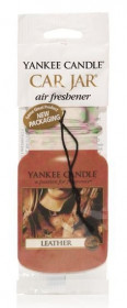 Aromatická visačka do auta, Yankee Candle Leather, papírová, provonění až 4 týdny