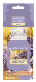 Aromatická visačka do auta, Yankee Candle Lemon Lavender, papírová, provonění až 4 týdny