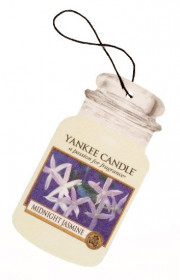 Aromatická visačka do auta, Yankee Candle Midnight Jasmine, papírová, provonění až 4 týdny