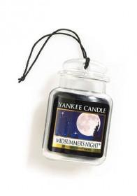 Aromatická visačka do auta, Yankee Candle Midsummer´s Night, gelová, provonění až 4 týdny
