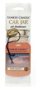 Aromatická visačka do auta, Yankee Candle Pink Sand, papírová, provonění až 4 týdny