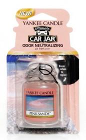 Aromatická visačka do auta, Yankee Candle Pink Sands, gelová, provonění až 4 týdny