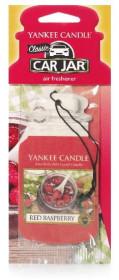 Aromatická visačka do auta, Yankee Candle Red Raspberry, papírová, provonění až 4 týdny