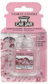 Aromatická visačka do auta, Yankee Candle Summer Scoop, gelová, provonění až 4 týdny