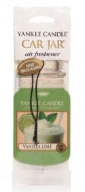 Aromatická visačka do auta, Yankee Candle Vanilla Lime, papírová, provonění až 4 týdny
