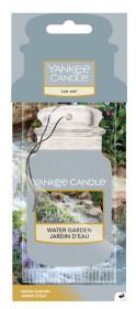 Aromatická visačka do auta, Yankee Candle Water Garden, papírová, provonění až 4 týdny