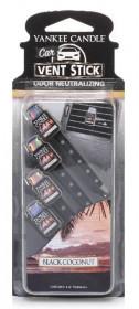 Aromatické kolíčky do auta, 4ks, Yankee Candle Black Coconut, provonění až 8 týdnů