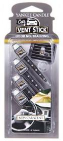 Aromatické kolíčky do auta, 4ks, Yankee Candle New Car Scent, provonění až 8 týdnů