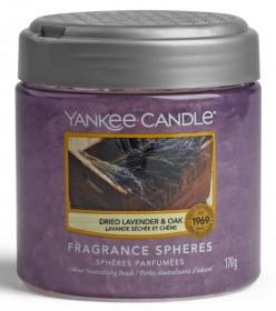 Aromatické perly, Yankee Candle Spheres Dried Lavender & Oak, provonění až 4 týdny